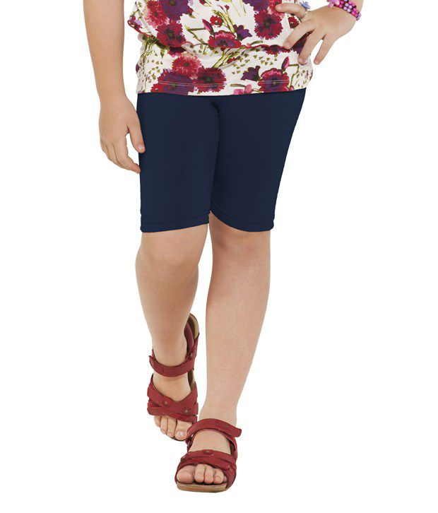 Go Colors Navy Shorts For Girls