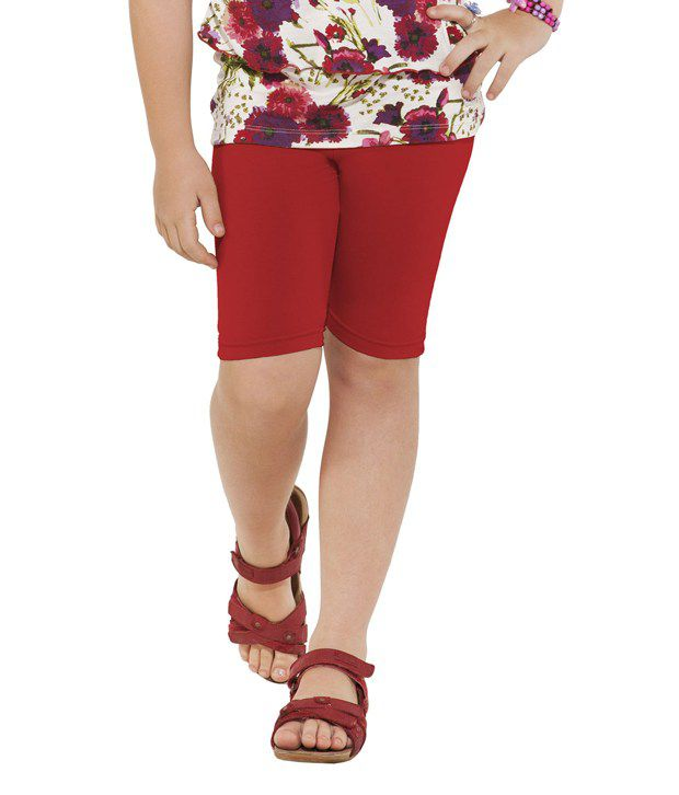 Go Colors Red Shorts For Girls