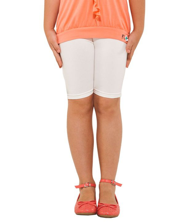 Go Colors White Shorts For Girls