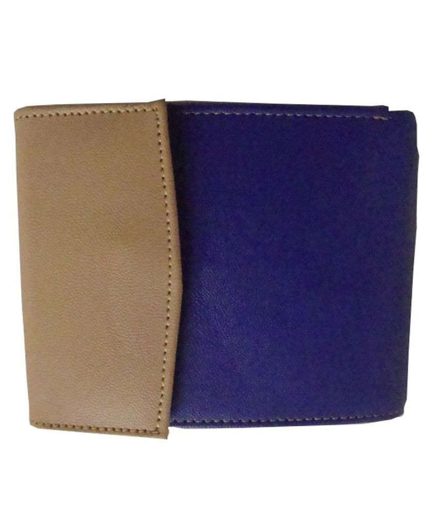 Lee Italian Non Leather Blue Regular Wallet For Women