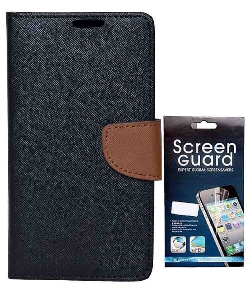 detailed look a7ec5 954fc Rdcase Flip Cover For Asus Zenfone 2 Laser ZE550KL (5.5 inches) - Black  With Screen Protector