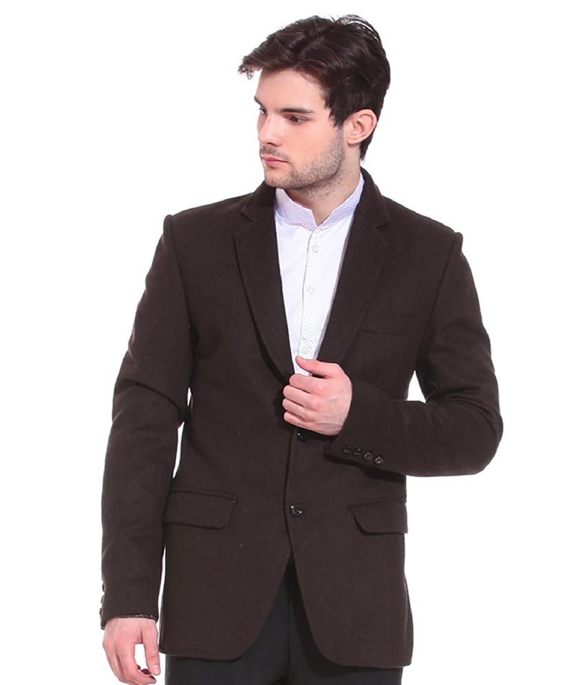 Tag 7 Brown Woolen Blazers
