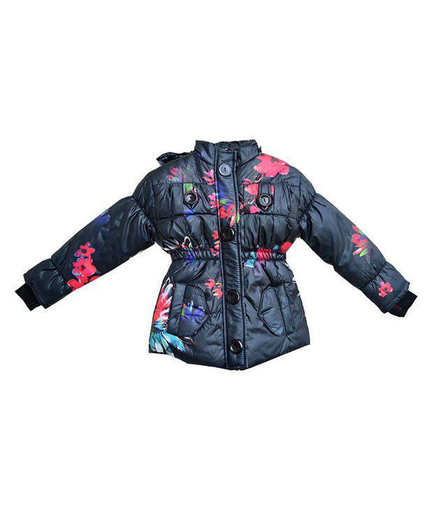 London Girl Multicolor Padded Jacket For Girls