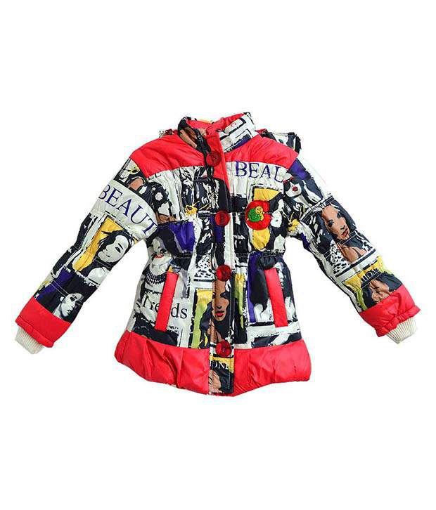 London Girl Multicolor Padded Jacket For Girls