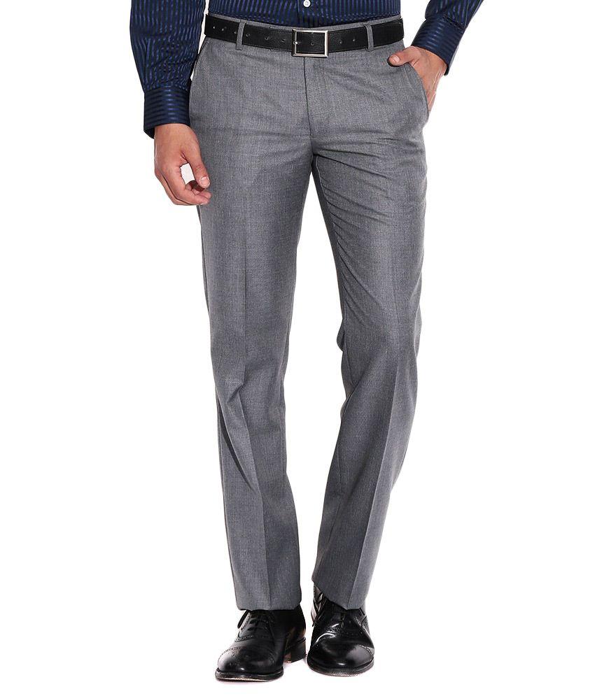 Golden Cloud Grey  Slim Fit Casual Trouser For Men