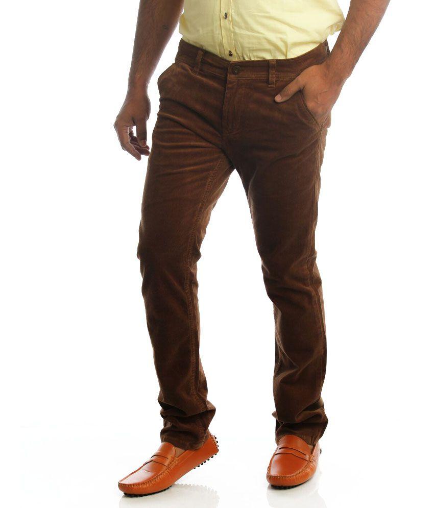 Shree Ram Garments Brown Regular Fit Casuals