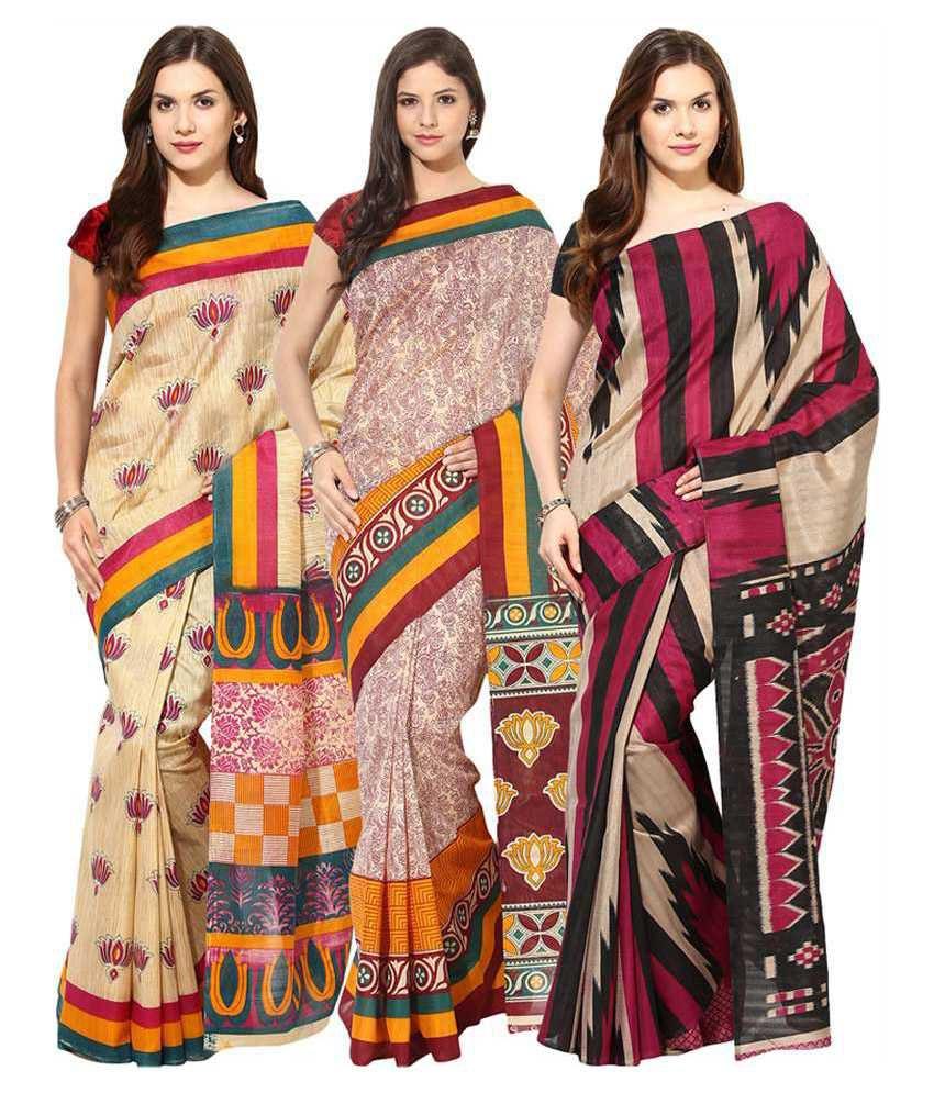 Fostelo Multicolour Cotton Pack Of 3