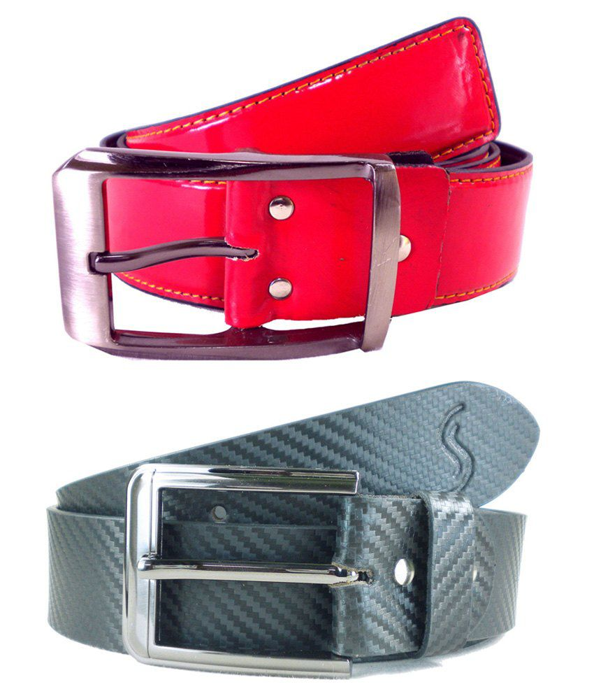 Sizzlers Multicolor Leather Belts - Set Of 2