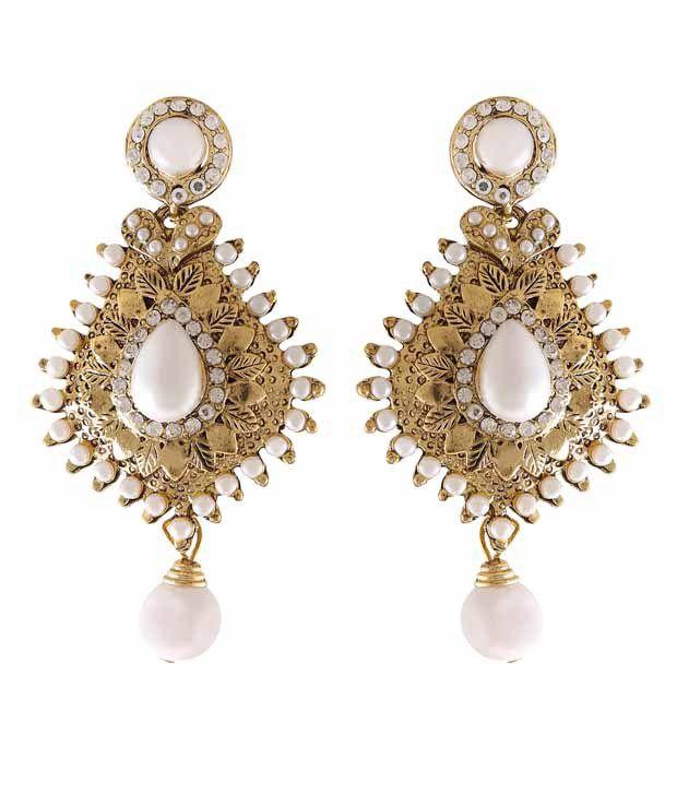 Grace Jewels Golden Alloy Earrings