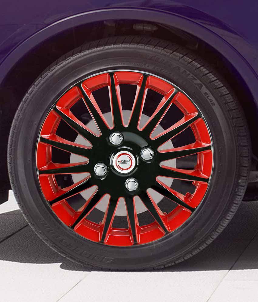 Hotwheelz Sporty Wheel Cover For Maruti Zen Estilo Red Buy Hotwheelz Sporty Wheel Cover For
