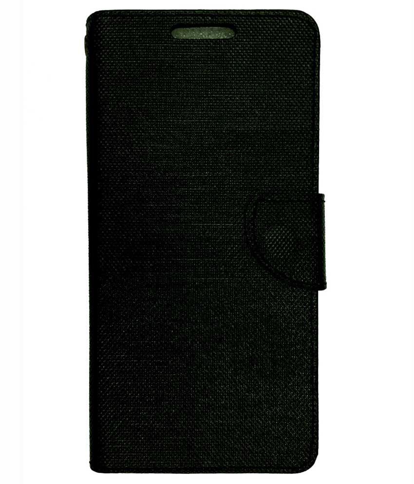 brand new ff15f 9155b Celson Flip Cover for Infocus M370i Flip Cover Case - Black