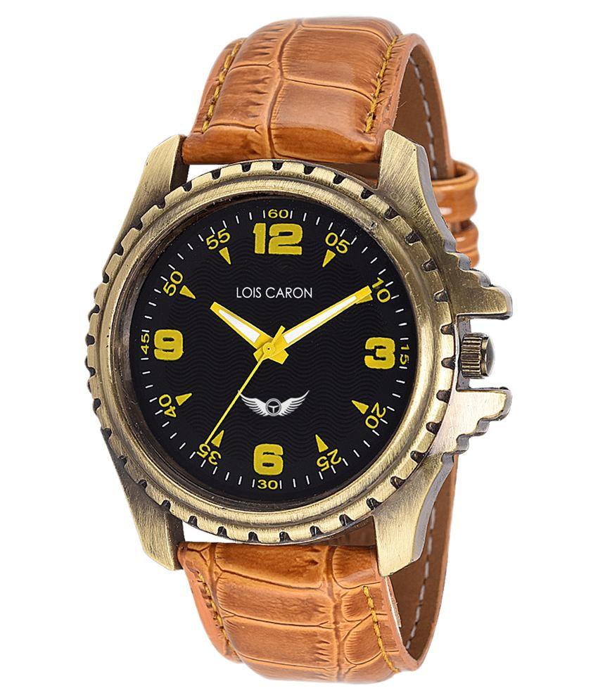 eb12b98ee Lois Caron Tan Analog Watch - Buy Lois Caron Tan Analog Watch Online at  Best Prices in India on Snapdeal