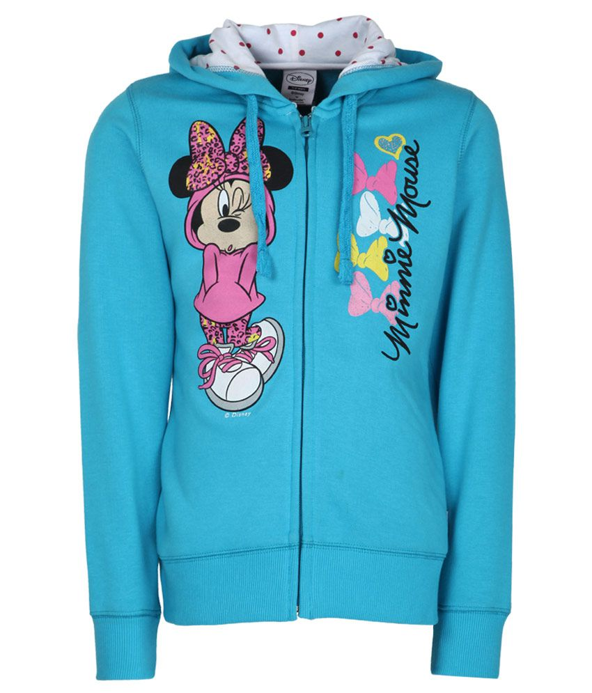 Mickey & Friends Blue With Hood Sweatshirt