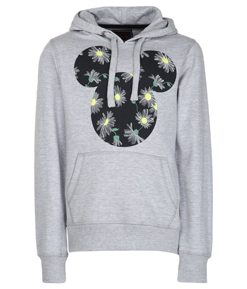 Mickey & Friends Gray With Hood Sweatshirt