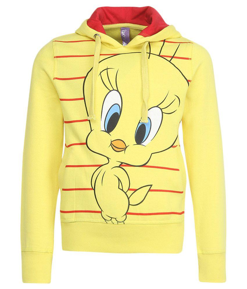 Tweety Yellow With Hood Sweatshirt
