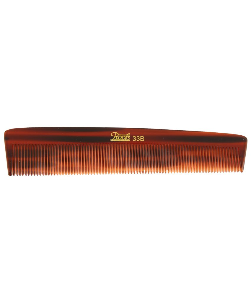 Roots Brown Fine Teeth Comb for Fine Long Straight Hair (Pack of 5)