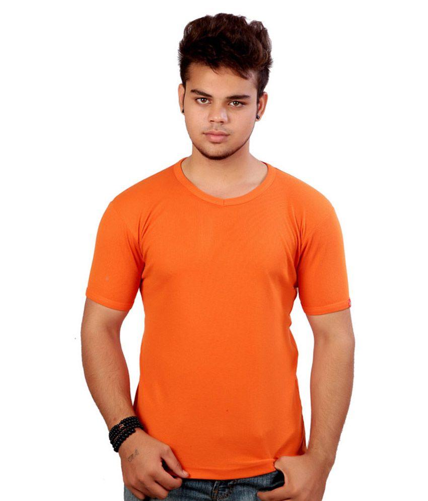 Sai Garments Orange Cotton T-Shirt - Pack of 3