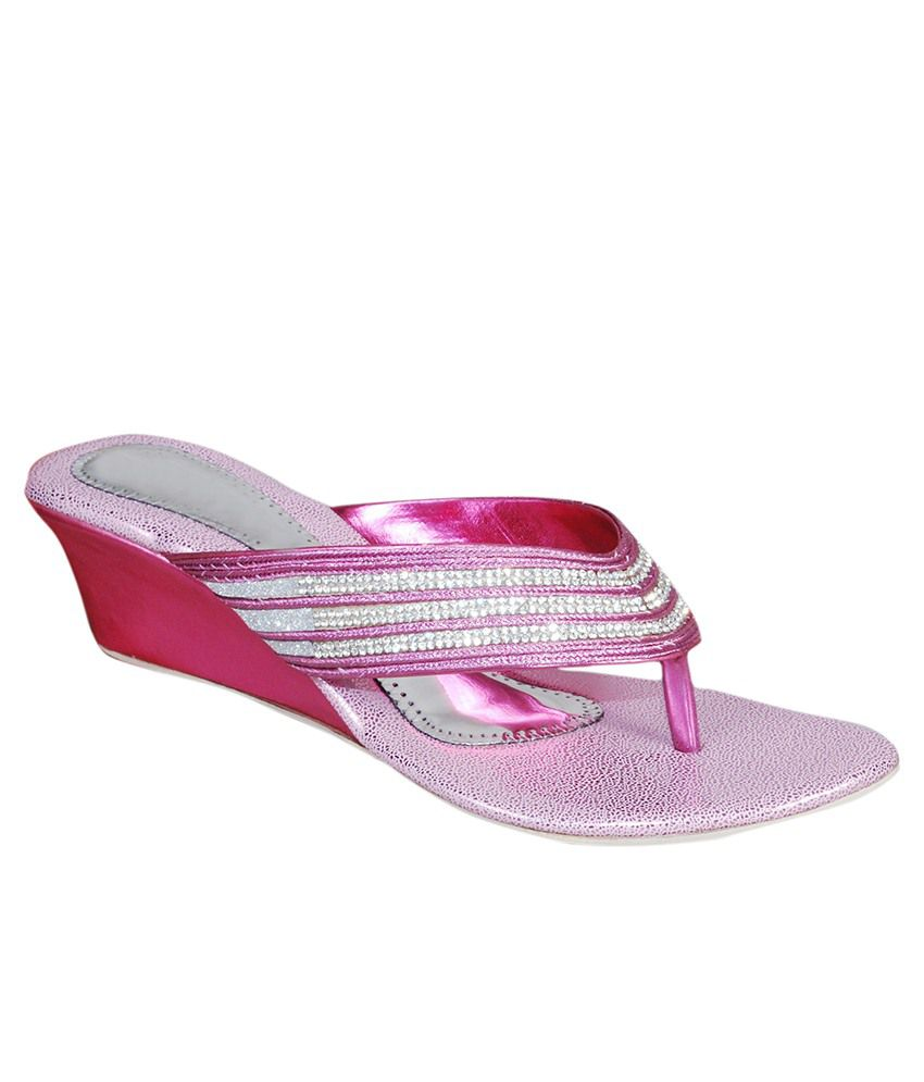 The Scapra Shoes Pink Slip Ons
