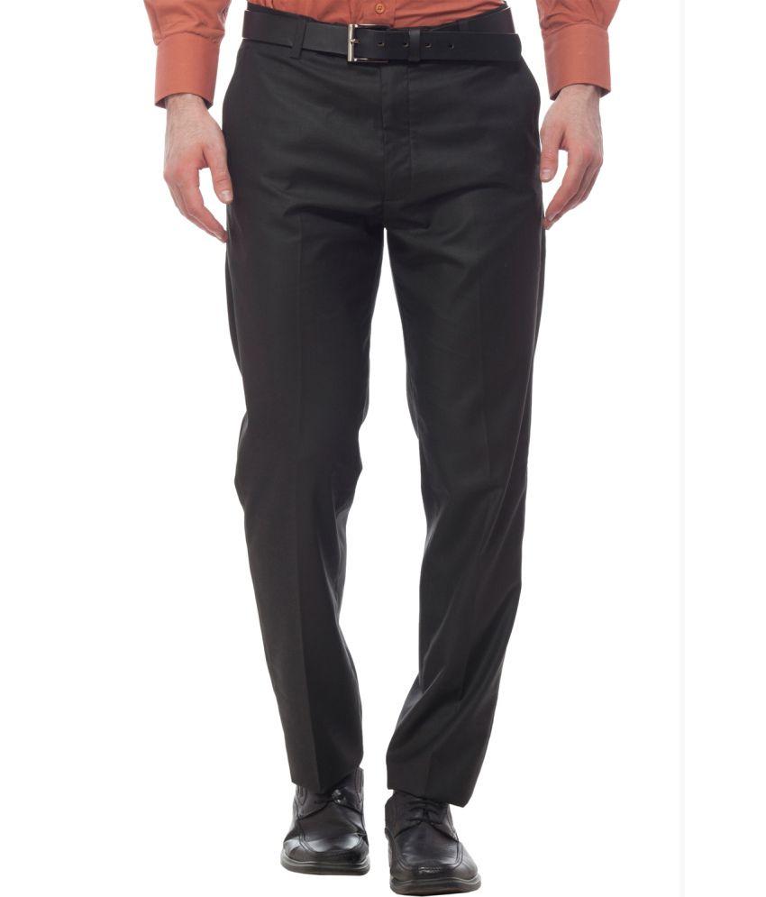 Divini Brown Slim Fit Formal Flat Trouser