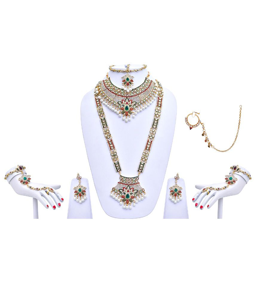 LUCKY JEWELLERY Alloy Multi Color Necklace