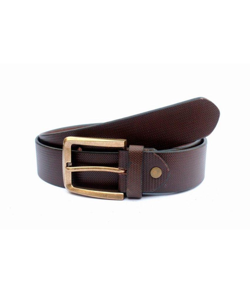 Tops Multicolour Formal Single Belt For Men Pack Of 2