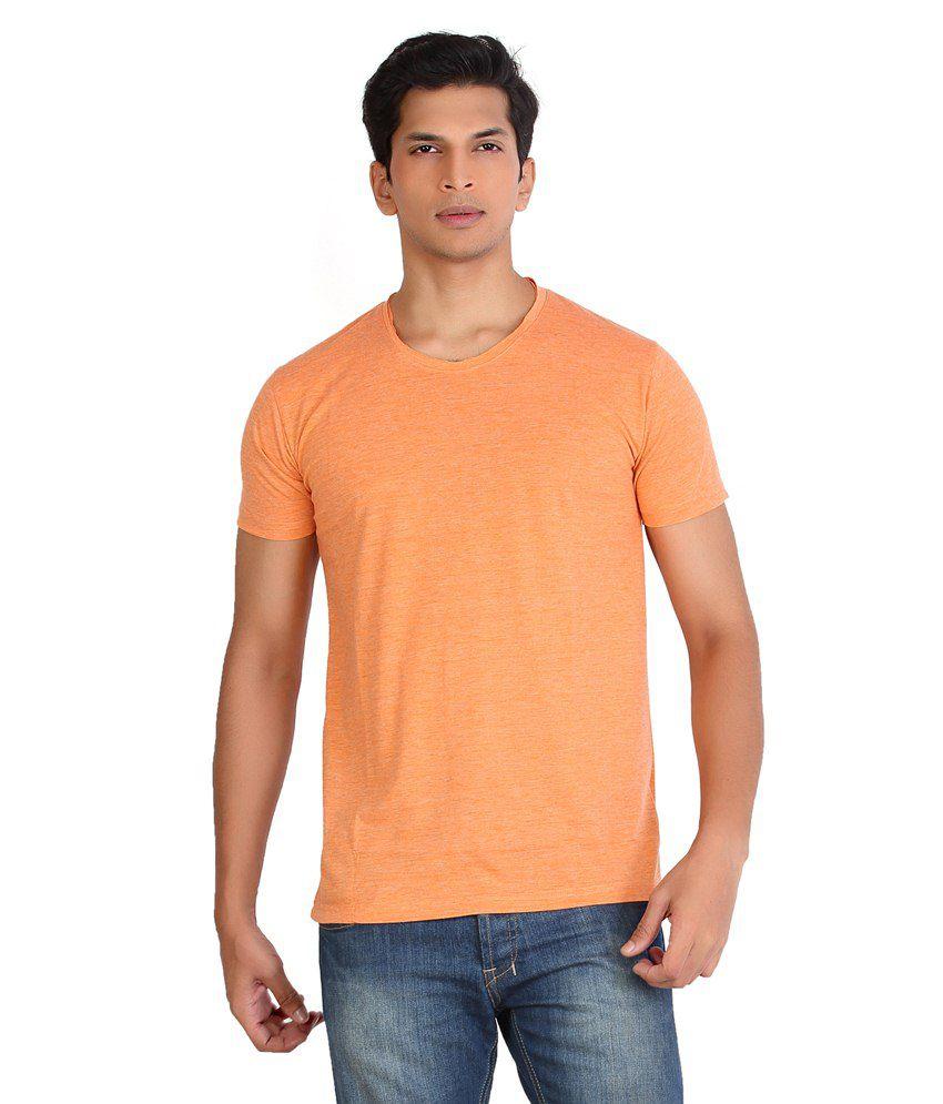 A Monk Orange Cotton T-shirt
