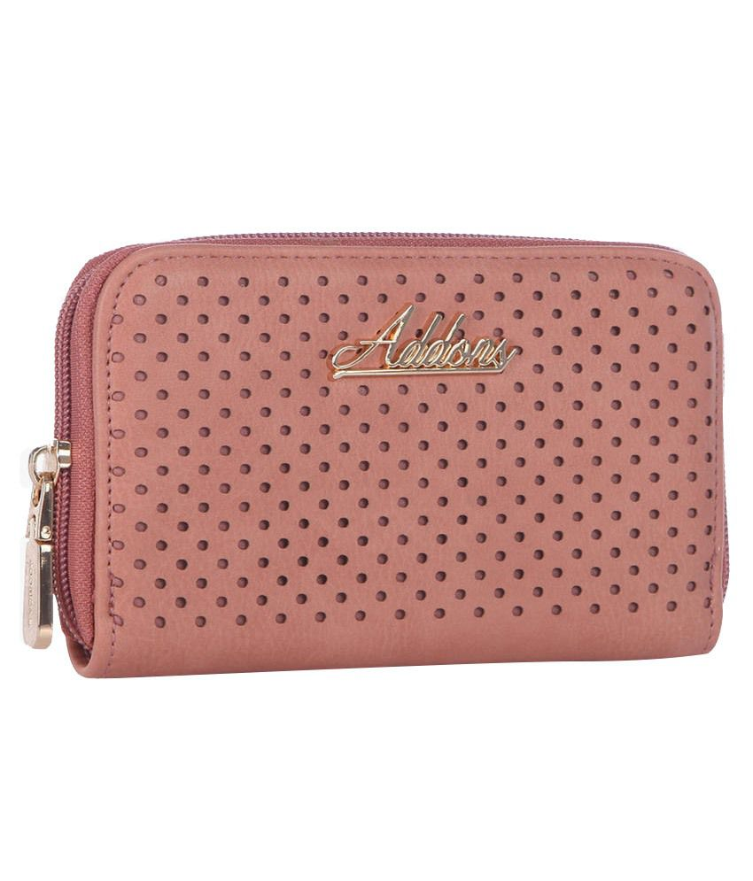 Addons Non Leather Pink Regular Wallet