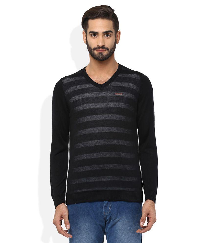 Spykar Black T-Shirt