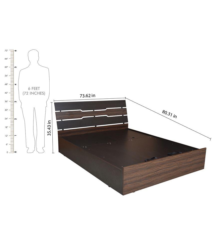 ... Crystal Furnitech Leon King Size Manual Lift Storage Bed ...