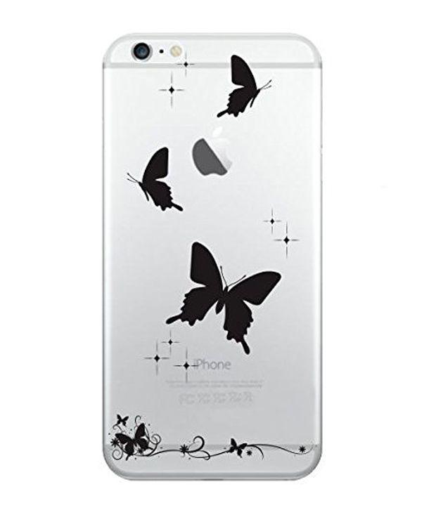 Apple iphone 6 Plus/6s Plus (Solid Butterflies/Black) Printed Covers by Hamee