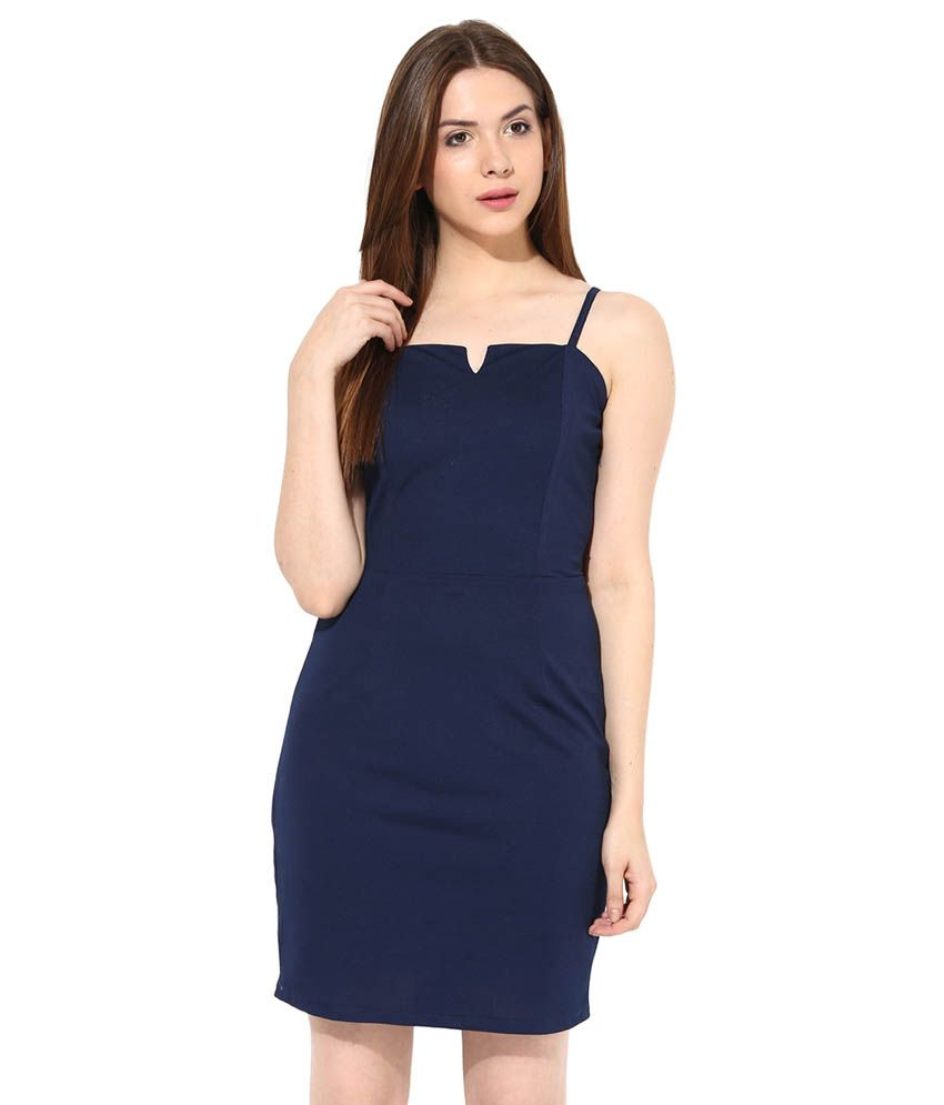 fe062ad073b Miss Chase Navy Mini Bodycon Dresses For Women Casual Wear - Buy Miss Chase  Navy Mini Bodycon Dresses For Women Casual Wear Online at Best Prices in  India ...