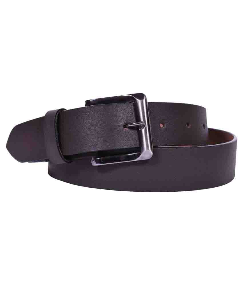 Onlymee Brown Leather Belt for Mens