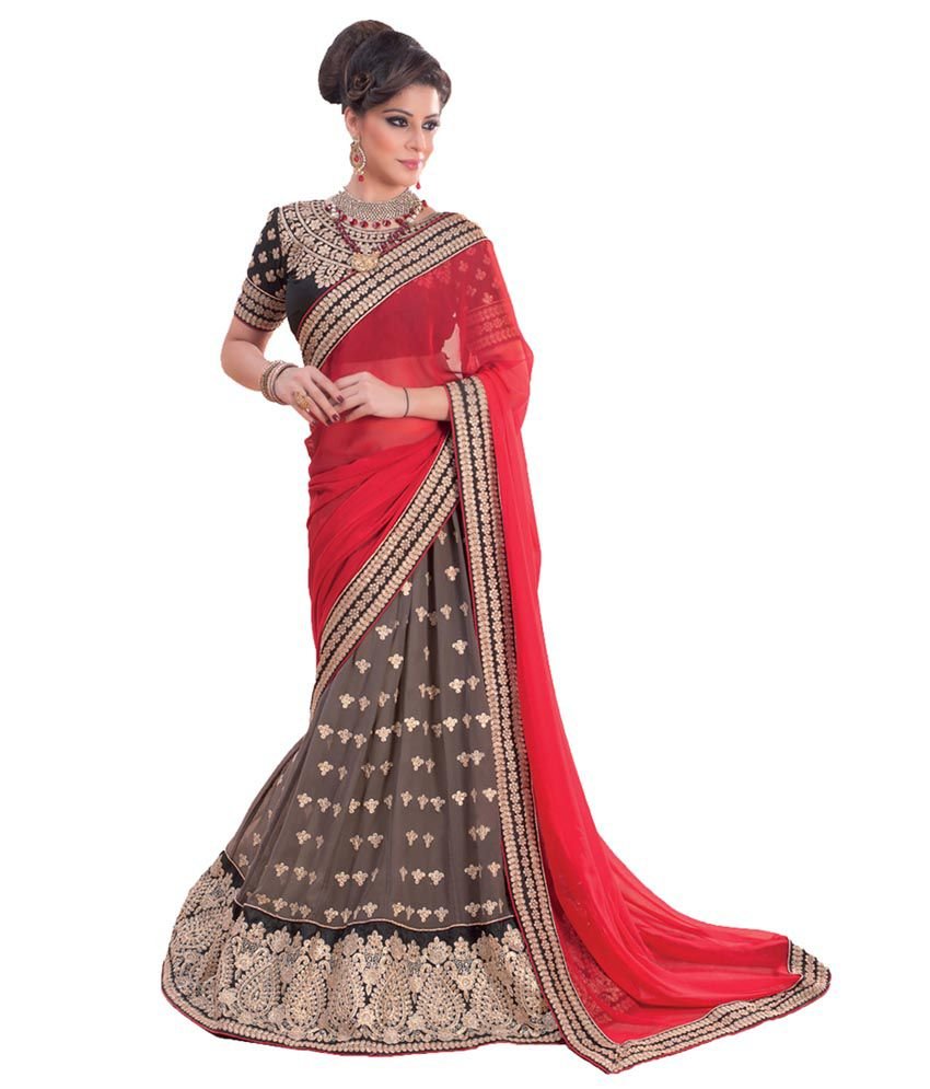 be7502c04b Tithi Fashion Red Brocade Lehenga - Buy Tithi Fashion Red Brocade Lehenga  Online at Best Prices in India on Snapdeal