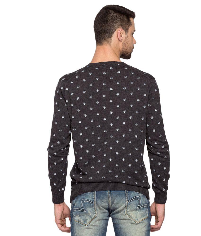 Black t shirt womens -  Spykar Black Full Sleeve T Shirt