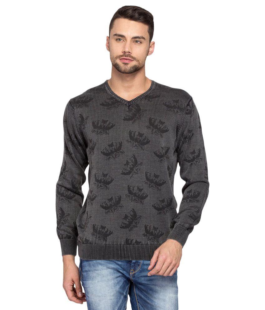 Spykar Black Full Sleeve T-Shirt