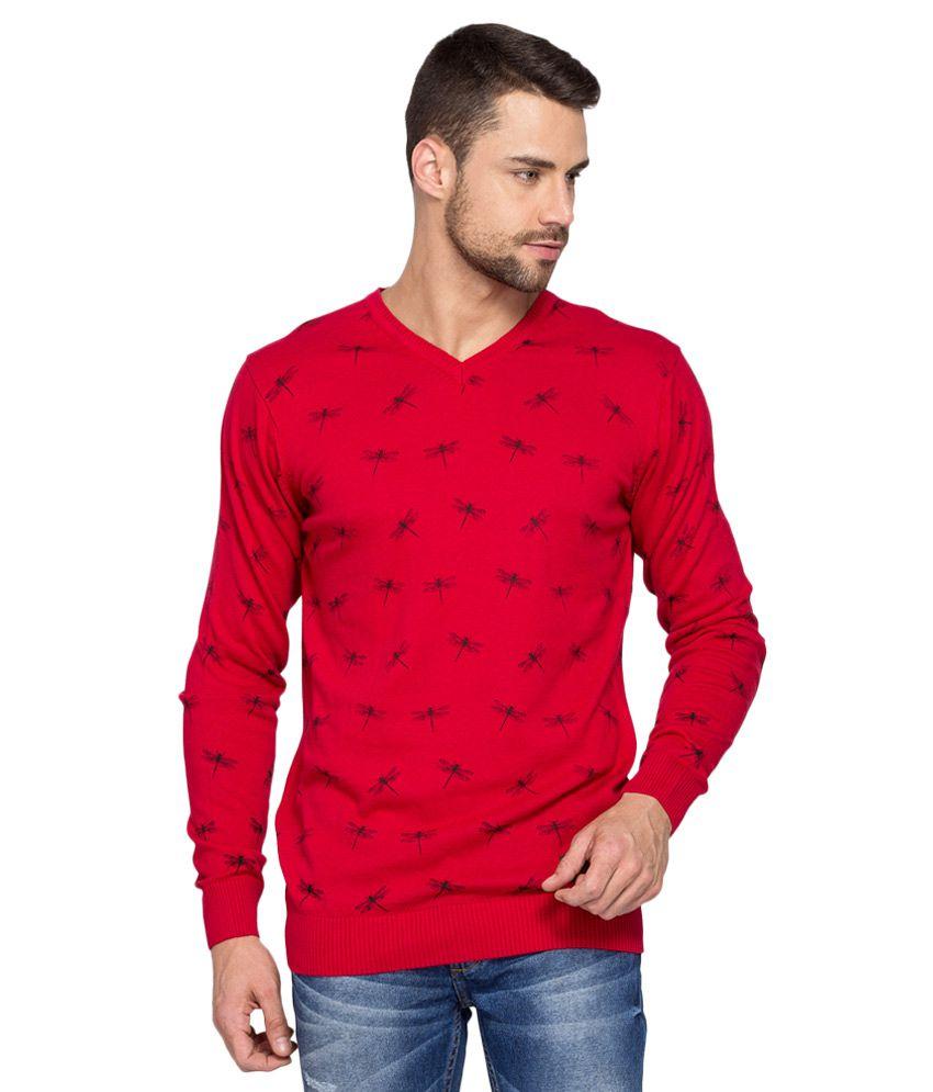 Spykar Red Full Sleeve T-Shirt