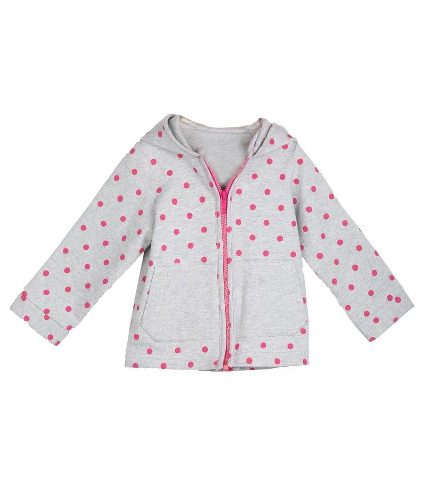 My Lil'berry Gray & Pink Jacket For Girls