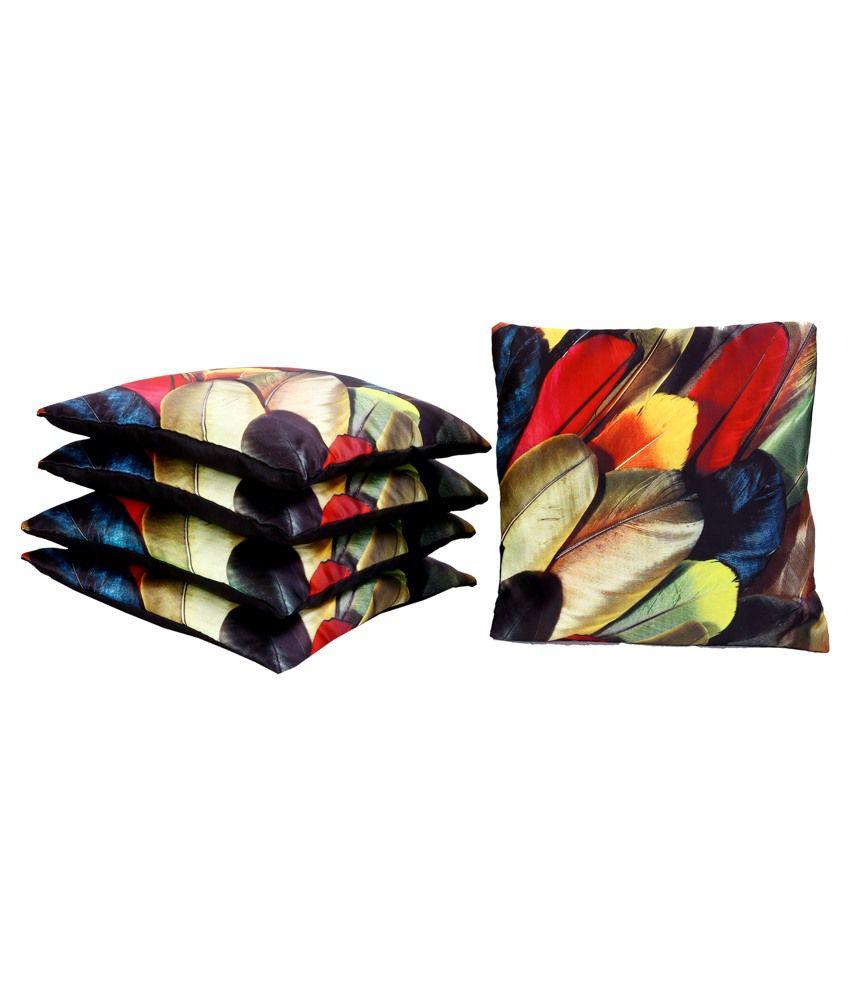 Raj International Multicolour Polyester Cushion Cover