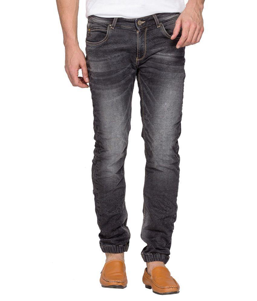 Spykar Grey Light Wash Slim Fit Jeans