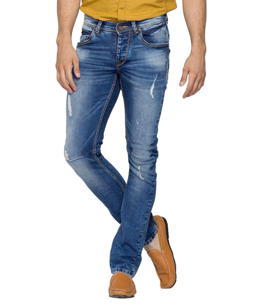 Spykar Blue Light Wash Skinny Fit Jeans