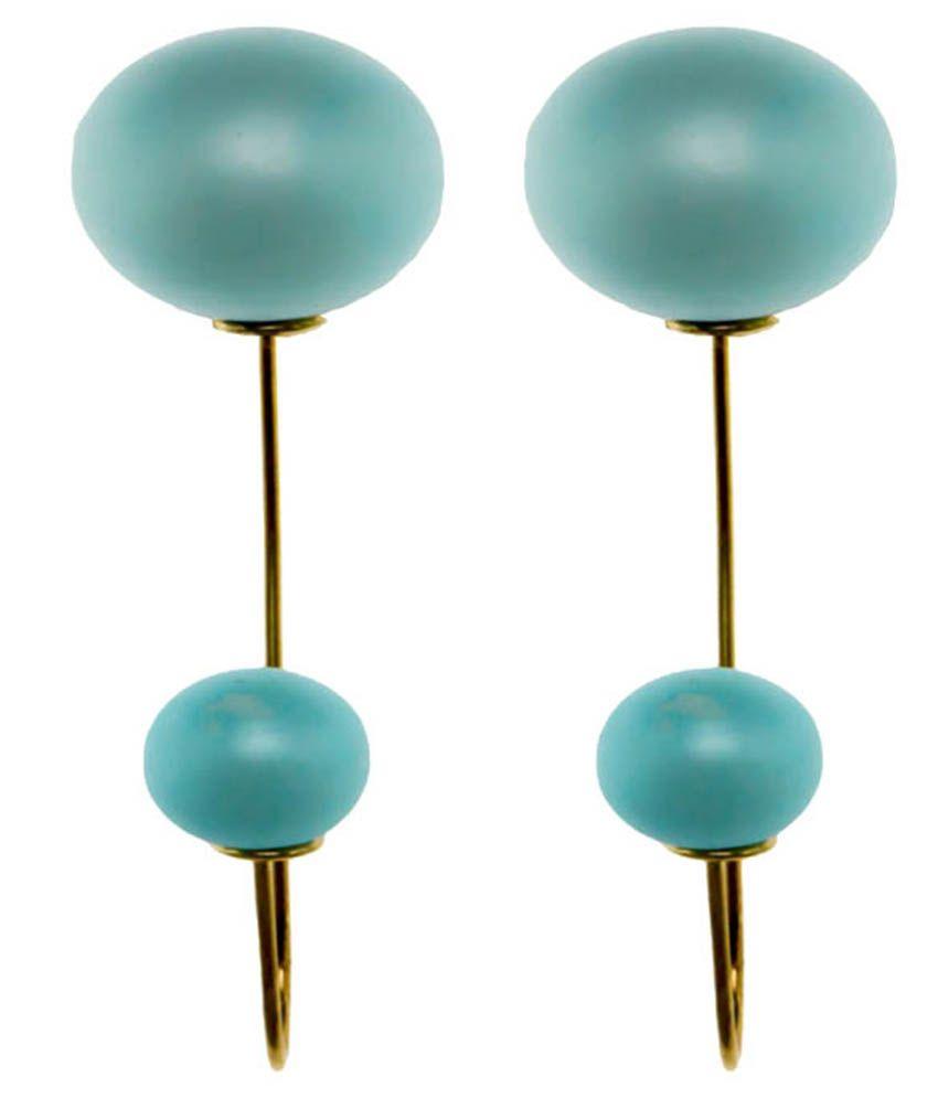 Krafftwork Alloy Blue Drop Earring