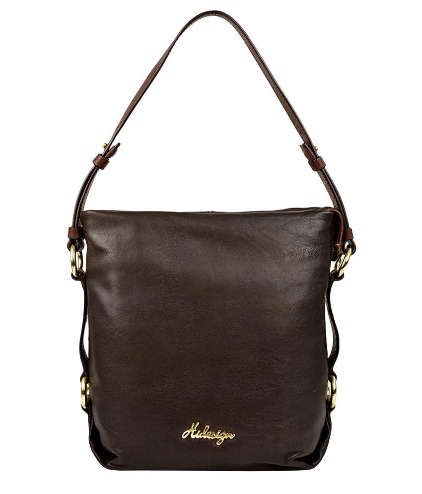 Hidesign Lucy 01 Brown Leather Shoulder Bag