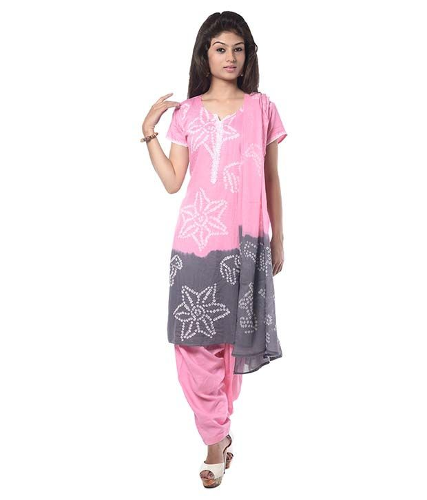 Nitara Pink Cotton Stitched Suit
