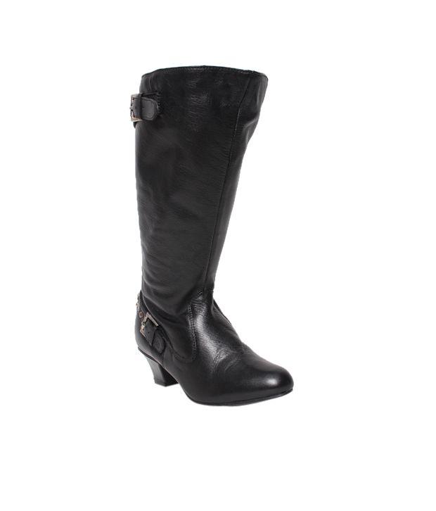 Massimo Italiano Black Heel Boots