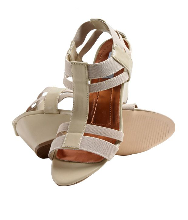 Lemon & Pepper Lovely Beige Heel Sandals