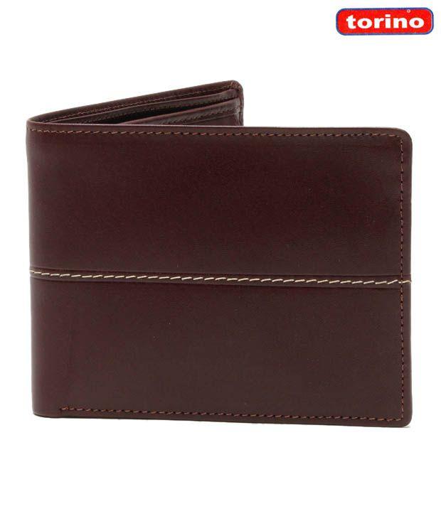 Torino Brown Fine Stitching Classy Wallet