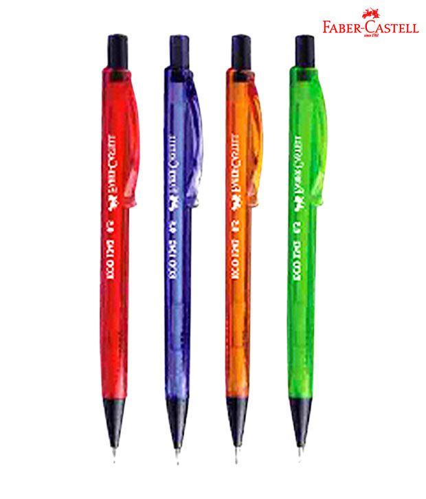faber castell eco-mech pencils (0.5 mm) (5 packs-10 each