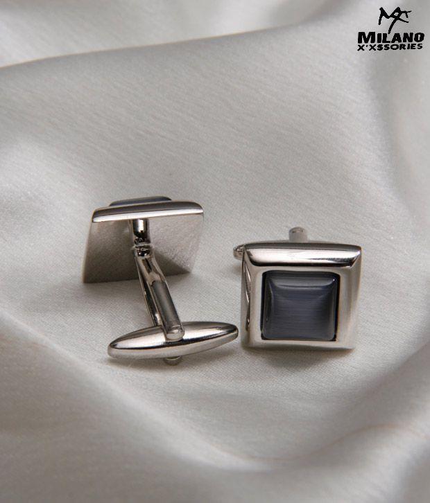 Milano X'xssories Grey Stone Cufflinks