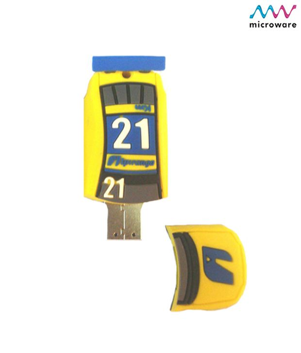 Microware Car Shape Yellow Designer Pen Drive 4 GB (Yellow)