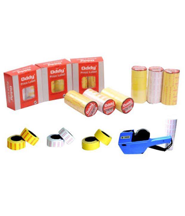 Oddy Yellow Plain Price Label Roll (5 Packs - 10 rolls each)